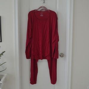 Hot Pink Sparkly Long Sleeve Pajama Set
